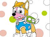 Раскраска щенячий патруль: Гонщик