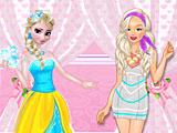 Эльза и Барби модные соперники