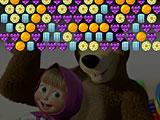 Маша и Медведь: конфетный стрелок пузырями