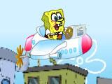 Губка Боб: леталка стрелялка на самолете