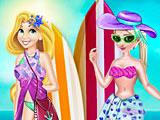 Принцессы Диснея: Эльза и Рапунцель в купальниках