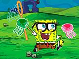 Губка Боб гонка медузы
