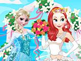 Принцессы Диснея: Эльза на свадьбе Ариэль
