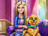 Барби дрессирует щенка
