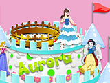 Торт с принцессами Диснея