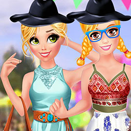 Модный фестиваль Барби и Рапунцель