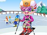 Малышка Хейзел лыжник