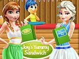 Радость готовит сендвичи для принцесс Диснея