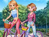 Принцессы Диснея: велопрогулка