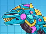 Собирать динозавров роботов: металлический тиранозавр