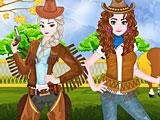 Холодное сердце: Анна и Эльза ковбои