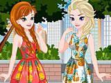 Холодное сердце: летние платья Эльзы и Анны