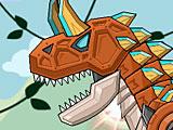 Собрать робота динозавра: Карнотавр