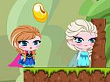 Холодное сердце: Эльза Анна и Олаф едят фасоль
