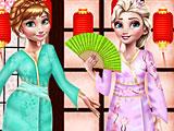 Холодное сердце Эльза и Анна: японская мода