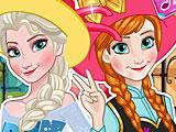 Холодное сердце на полароид: Эльза и Анна в Париже