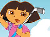 Даша играет в гольф