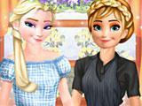 Холодное сердце одевалки: Эльза и Анна на работе