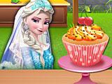 Эльза готовит кекс