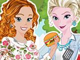 Холодное сердце: барбекю Эльзы и Анны