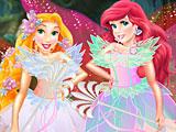 Принцессы Диснея: волшебные феи Ариэль и Рапунцель