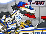 Роботы динозавры: полицейский тиранозавр