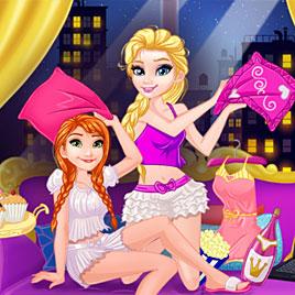 Холодное сердце: пижамная вечеринка Эльзы и Анны