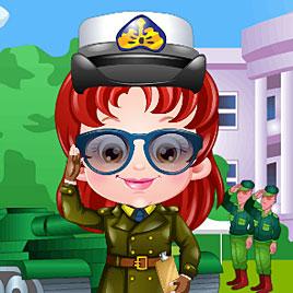 Малышка Хейзел офицер армии