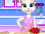 Анжела готовит яблочный пирог