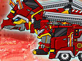 Роботы динозавры: трицератопс пожарный