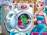 Холодное сердце: Эльза стирает одежду