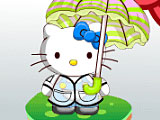 Хелло Китти: дождливый день