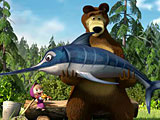 Маша и Медведь: рыбалка