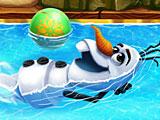 Холодное сердце: Олаф плавает в бассейне