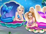 Холодное сердце: принцессы Эльза и Анна русалочки