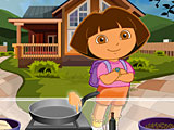 Даша готовит осенний завтрак