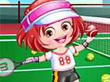 Малышка Хейзел теннисистка