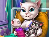 Анжела рожает близнецов