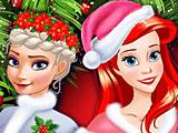 Принцессы Диснея Новый год лучших подружек