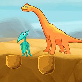 Поезд динозавров водопой