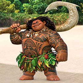 Бог Мауи ловит кокосы