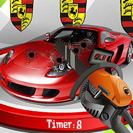 Разбивать машины Porshe Carrera GT