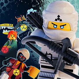 Лего Ниндзяго учебная стрельба