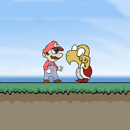 Бродилка Марио драки