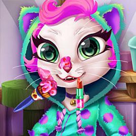 Говорящая кошка Анжела реальный макияж