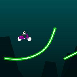 Мотоциклы: неоновый байкер