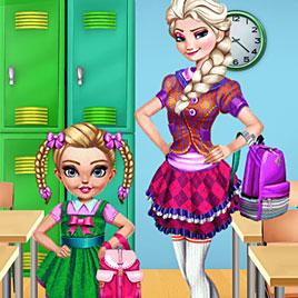 Холодное сердце: первый день в школе Эльза и дочери