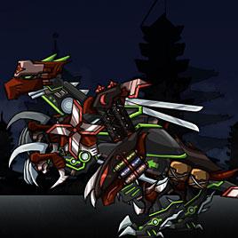 Роботы динозавры: ниндзя велоцираптор делюкс