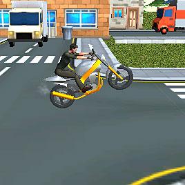 На мотоциклах гонки 3д