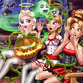 Принцессы Диснея: Хэллоуин комната страха